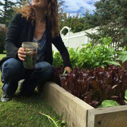 Anna at her Garden