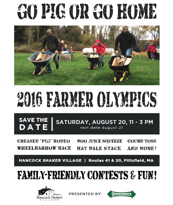 Greenagers Holds Farmer Olympics at Hancock Shaker Village